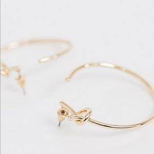 ASOS knot hoop earrings